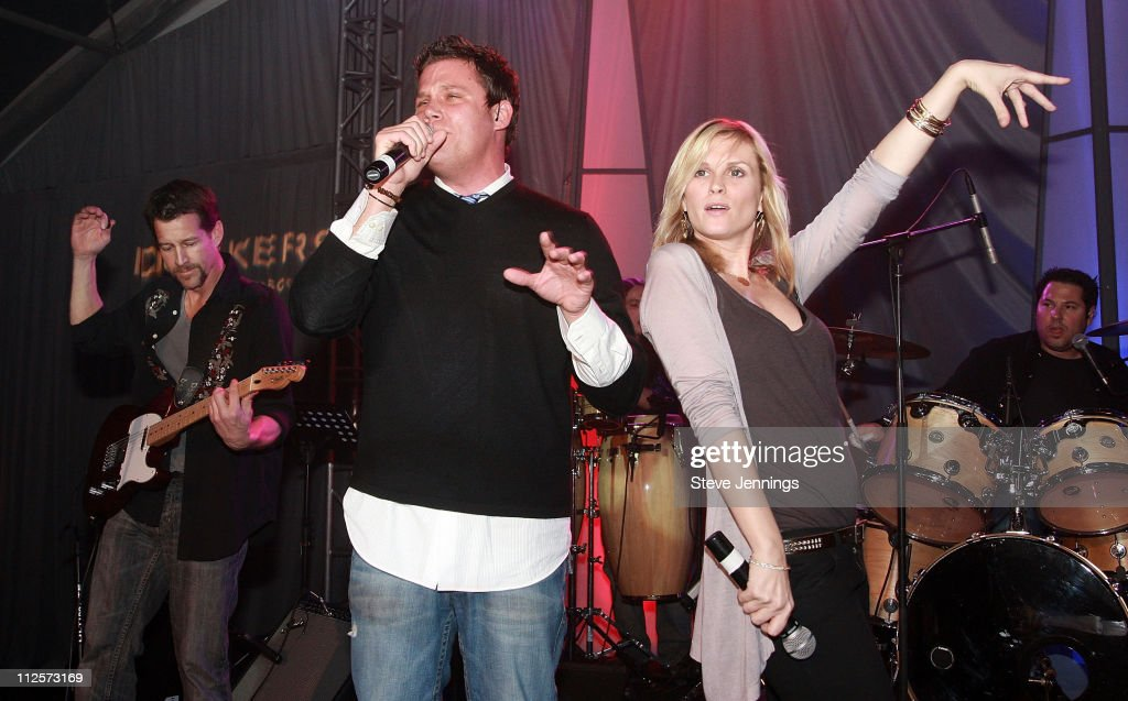 Band From TV featuring actors James Denton Bob Guiney Bonnie Somerville and Greg Grunberg performing at Dockers Final Round at the Inn at Spanish Bay...