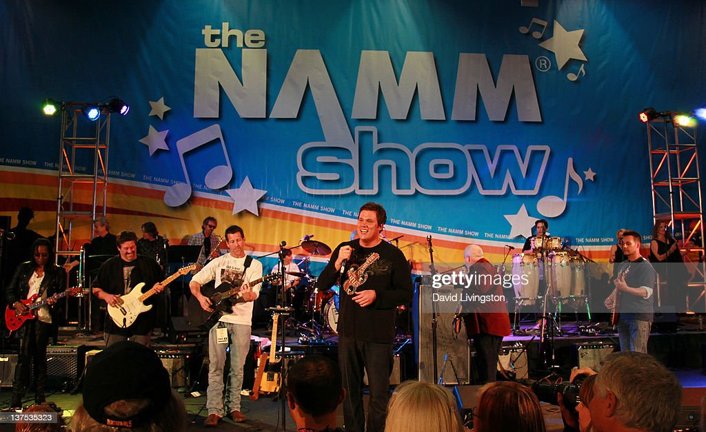 Band From TV performs on stage at the 110th NAMM Show - Day 3 at the Anaheim Convention Center on January 21, 2012 in Anaheim, California.