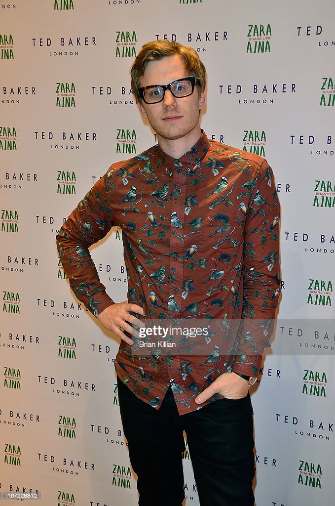 Band guitarist Jarred Scharff attends the Zara Aina Foundation Benefit at Ted Baker on April 22, 2013 in New York City.