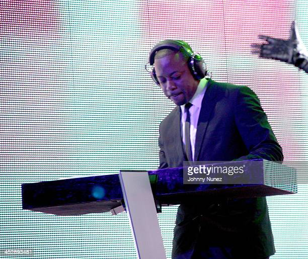 Band Keyboardist during BlackBook Magazine and Island Def Jam Present UTADA at SkyLight Studios in New York City New York United States