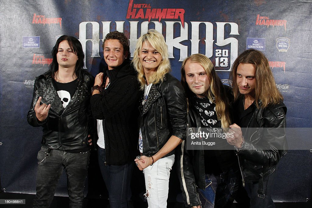 Band 'Kissin Dynamite' attend the Metal Hammer Awards 2013 at Kesselhaus on September 13, 2013 in Berlin, Germany.