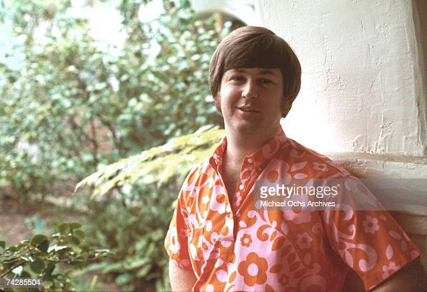 Band leader Brian Wilson of the rock and roll band 'The Beach Boys' poses for a portrait in 1968 in Los Angeles California