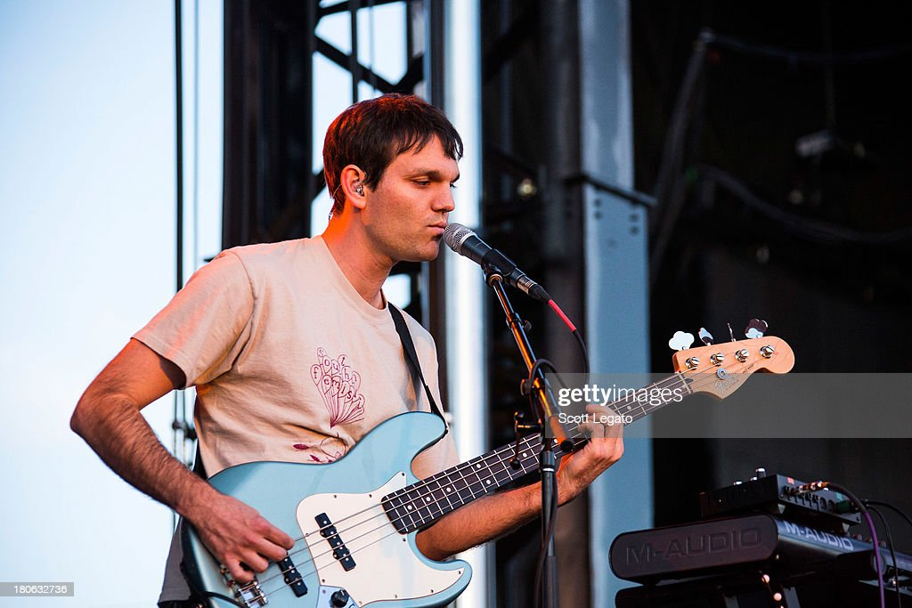 Band member of Washed Out performs during the St Jerome's Laneway Festival at Meadow Brook Music Festival on September 14, 2013 in Rochester, Michigan.