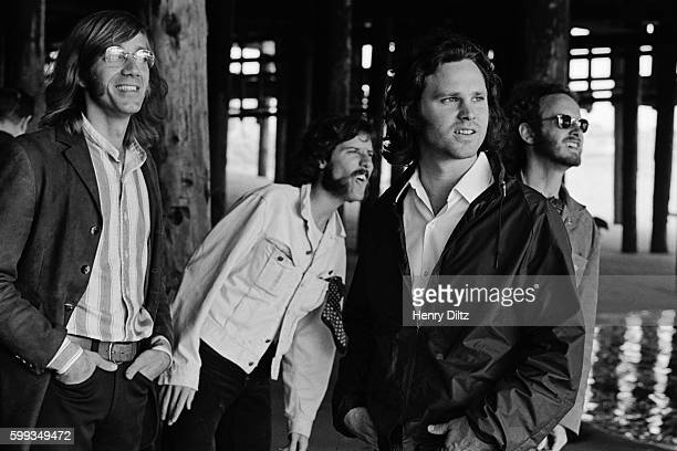 Band members are left to right Ray Manzarek John Densmore Jim Morrison and Robbie Krieger