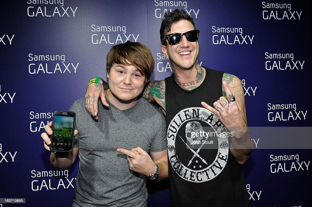 Band members from Of Mice and Men attend The Universal Music Group cocktail party hosted by Samsung Galaxy Club at SXSW on March 14, 2013 in Austin, Texas.