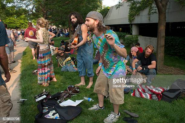 A band named Creamery Station plays for fans of the Grateful Dead at Soldier Field Chicago