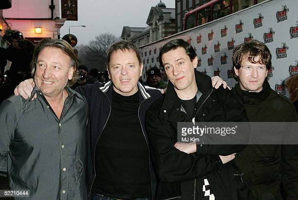 Band New Order arrive at The Shockwaves NME Awards 2005 at Hammersmith Palais on February 17 2005 in London The annual music awards sees winners...