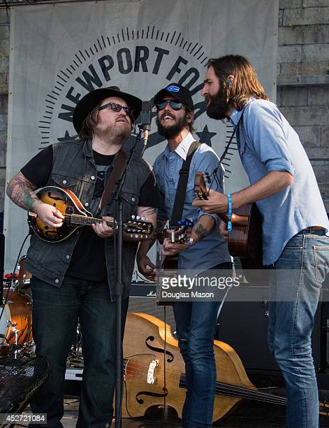 Band of Horses performs during the 2014 Newport Folk Festival at Fort Adams State Park on July 25 2014 in Newport Rhode Island
