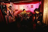 Band practising in bedroom