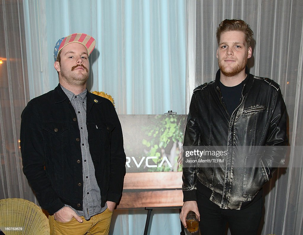 Band Ragged Jubilee attends the RVCA Swimwear Launch at The Standard Hotel on February 4, 2013 in Los Angeles, United States.