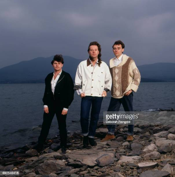 Band Simple Minds pose for a portrait in 1987 in New York