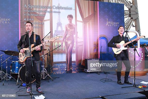 Band Soler perform during The Parisian event on January 8 2017 in Macao China