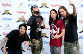 Band Suicide Silence arrives at the 5th Annual Revolver Golden Gods Award Show at Club Nokia on May 2 2013 in Los Angeles California