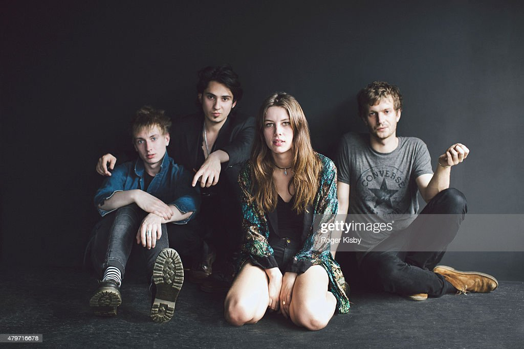 Band Wolf Alice (Theo Ellis, Joel Amey, Ellie Rowsell and Joff Oddie) poses for a portrait backstage at The FADER FORT Presented by Converse during SXSW on March 19, 2015 in Austin, Texas.