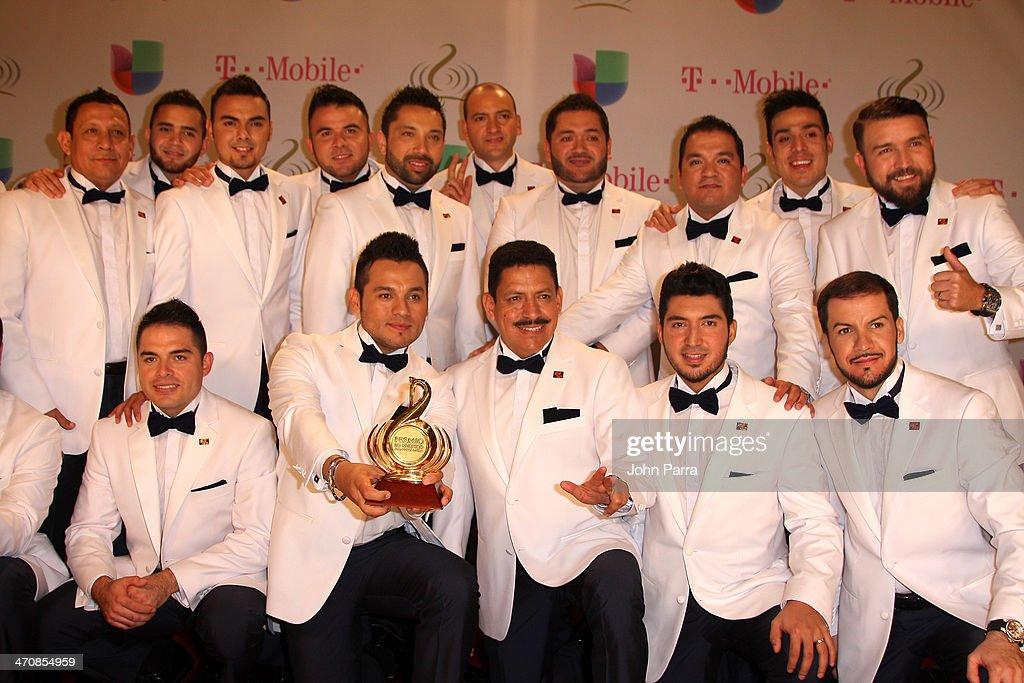 Banda El Recodo attend Premio Lo Nuestro a la Musica Latina 2014 at American Airlines Arena on February 20, 2014 in Miami, Florida.
