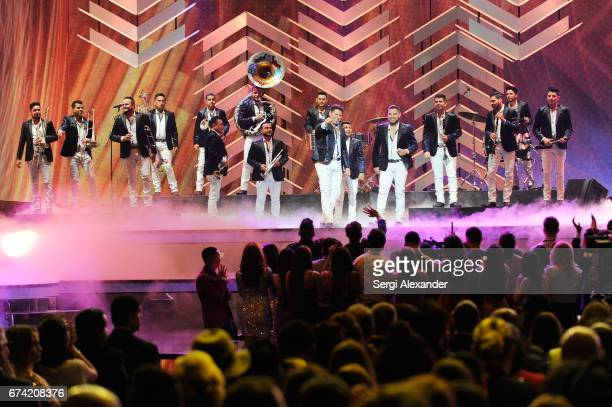 Banda Sinaloense MS de Sergio Lizárraga performs onstage at the Billboard Latin Music Awards at Watsco Center on April 27 2017 in Coral Gables Florida