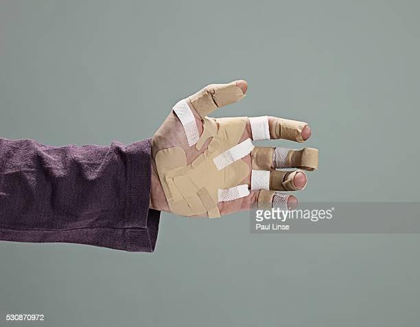Bandages on Man's Hand