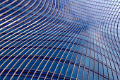 Banded curved abstract building background