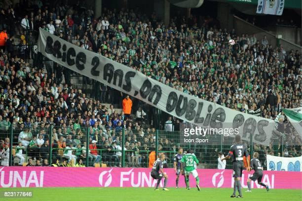 Banderole Saint Etienne / Toulouse 7eme journee de Ligue 1