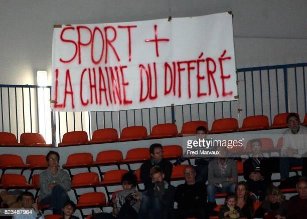 Banderole 'Sport la chaine du differe' Nancy / Ostende Eurochallenge