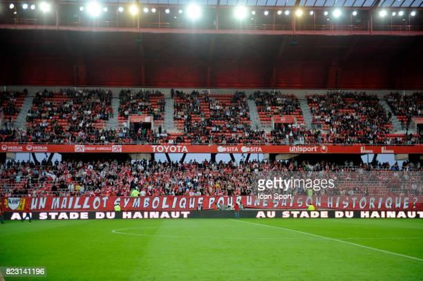 Banderole Stade du Hainaut / Ambiance Valenciennes / Brest 2eme journee de Ligue 1
