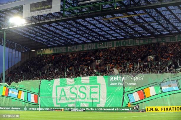 Banderole Supporter Saint Etienne Saint Etienne / Caen 10e journee Ligue 1