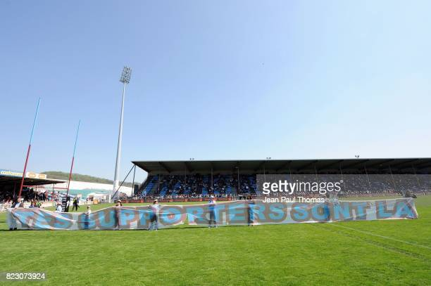 Banderole Supporters Bourgoin Bourgoin / Castres 24e journee Top 14