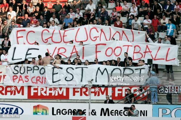 Banderole supporters Gueugnon Nancy / Arles Avignon 32eme journee de Ligue 1