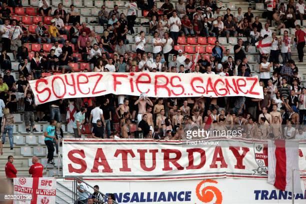 Banderole supporters Nancy Nancy / Evian Thonon 9e journee Ligue 1