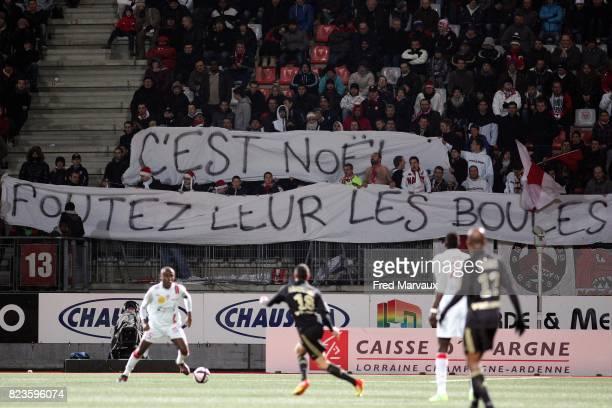 Banderole supporters Nancy Nancy / Marseille 19eme journee de Ligue 1