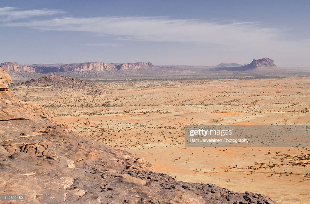 Bandiagara landscape : Stock Photo