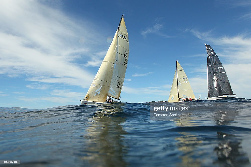 'Bandit' leads competitors during the Sydney Regatta on Sydney Harbour, on March 10, 2013 in Sydney, Australia.