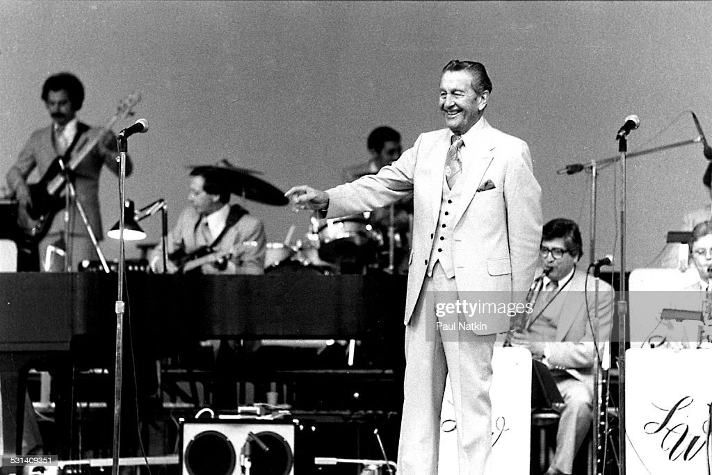 Bandleader <a gi-track='captionPersonalityLinkClicked' href=/galleries/search?phrase=Lawrence+Welk&family=editorial&specificpeople=714731 ng-click='$event.stopPropagation()'>Lawrence Welk</a> performing, Chicago, Illinois, June 15, 1980.