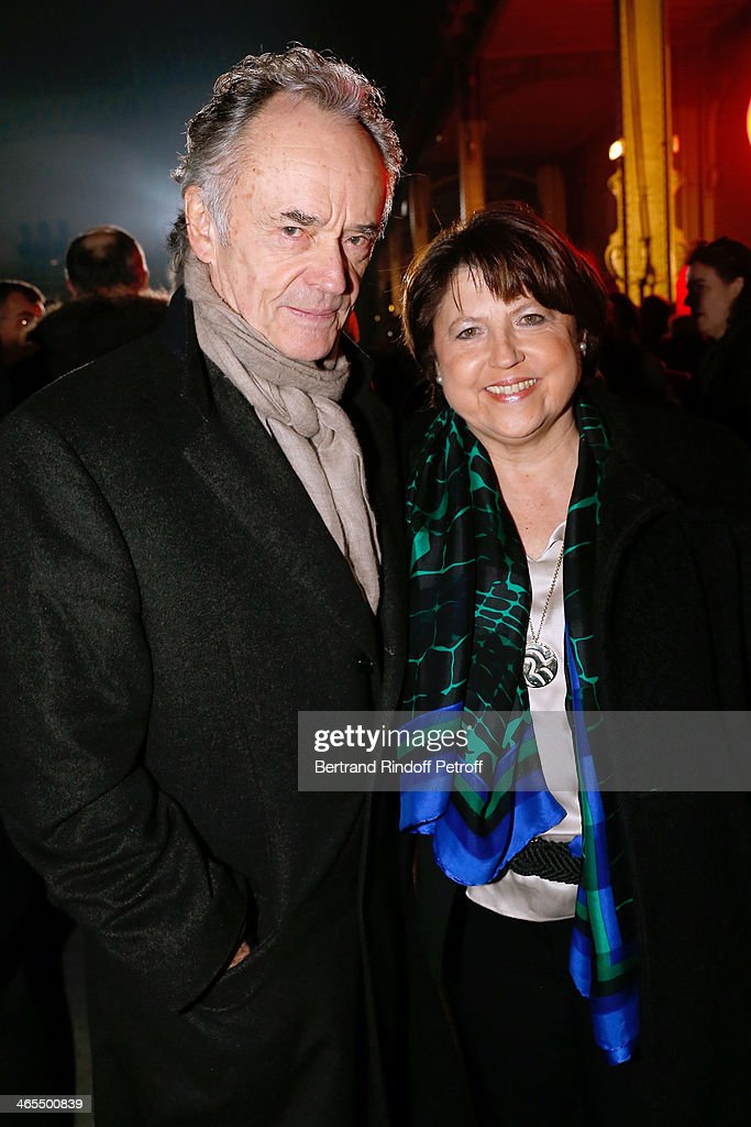 Bandmaster Jean-Claude Casadesus and <a gi-track='captionPersonalityLinkClicked' href=/galleries/search?phrase=Martine+Aubry&family=editorial&specificpeople=590991 ng-click='$event.stopPropagation()'>Martine Aubry</a> attend the 'Nuit De La Chine' - Opening Night at Grand Palais on January 27, 2014 in Paris, France.