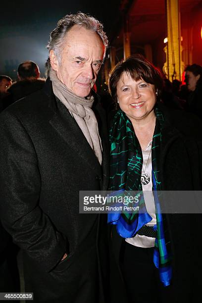 Bandmaster JeanClaude Casadesus and Martine Aubry attend the 'Nuit De La Chine' Opening Night at Grand Palais on January 27 2014 in Paris France