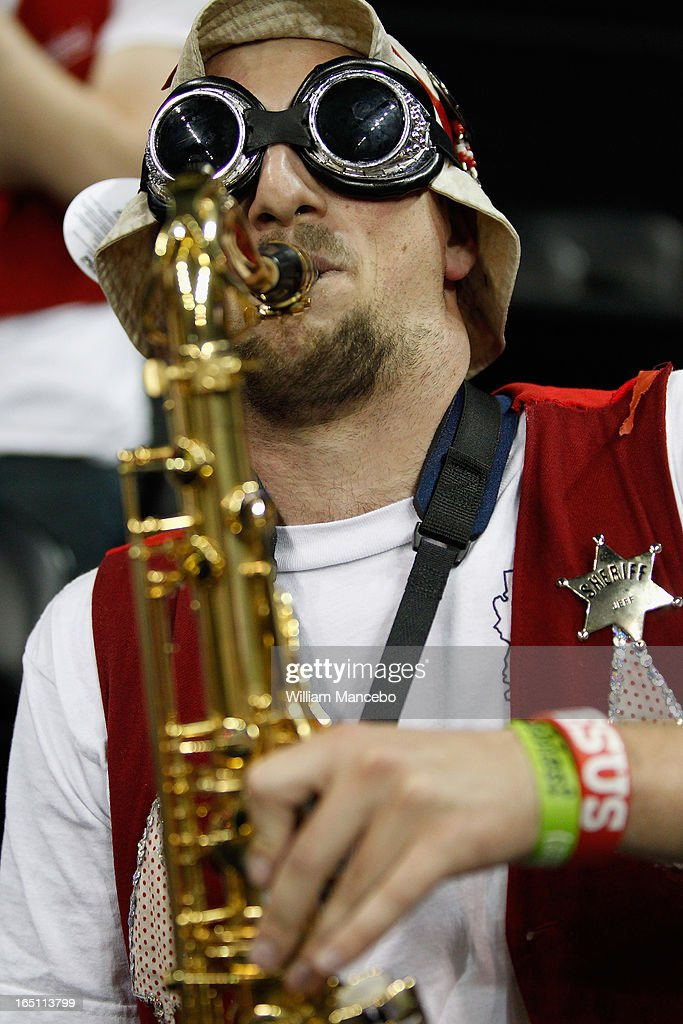 A bandmember for the Stanford Cardinal performs at the game against the Georgia Lady Bulldogs during the NCAA Division I Women's Basketball Regional Championship at Spokane Arena on March 30, 2013 in Spokane, Washington.
