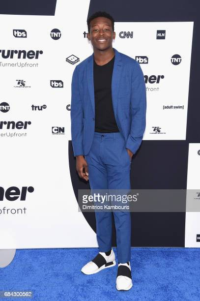 Bandon Micheal Hall attends the Turner Upfront 2017 arrivals on the red carpet at The Theater at Madison Square Garden on May 17 2017 in New York...