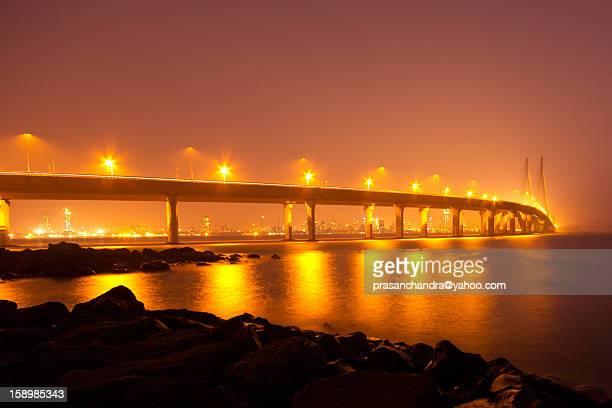 Bandra worli sea link at night