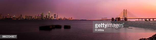 Bandra - Worli sea link & city lights
