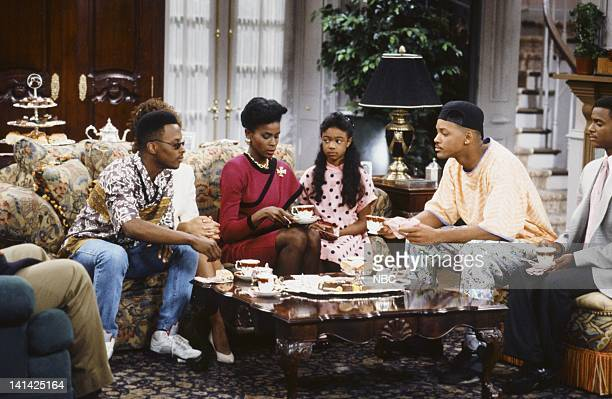 AIR 'Bang the Drum Ashley' Episode 2 Pictured Jeffrey A Townes as Jazz Janet Hubert as Vivian Banks Tatyana Ali as Ashley Banks Will Smith as William...