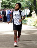 In this file photograph dated 27 May 2006 Indian child athlete Budhia Singh runs in the grounds of the Press Club in Bangalore India's army offered...