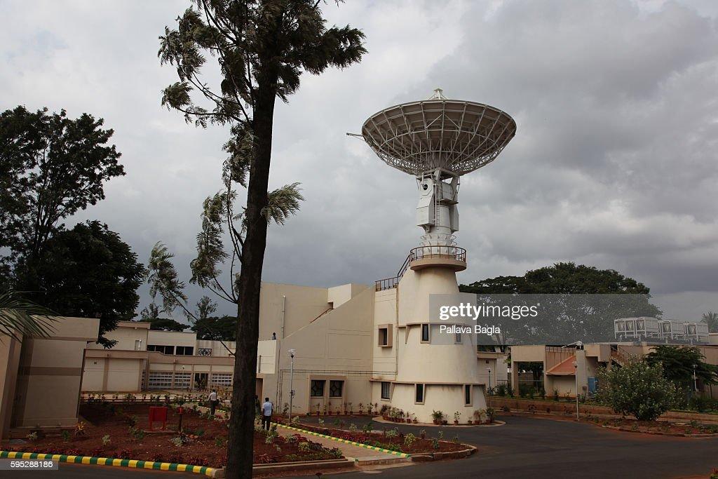 Bangalore India September 12 2011 Megha Tropiques a satellite to study monsoon The satellite dish that will receive the data Megha Tropiques a 1000...