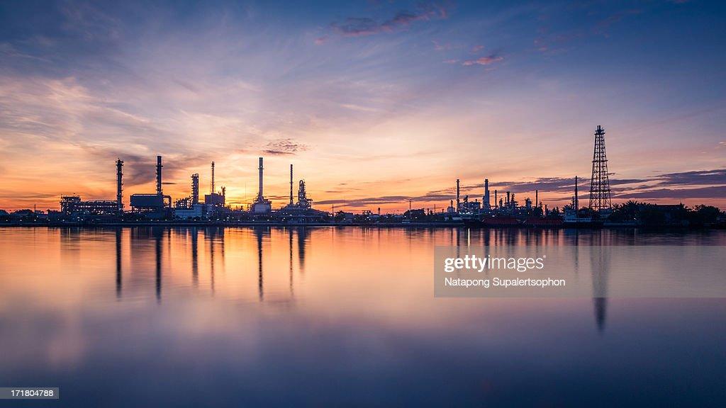 Bangchak Oil Refinery at dawn