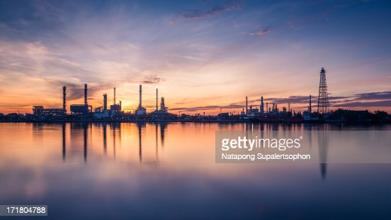 Bangchak Oil Refinery at dawn