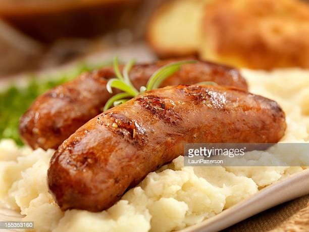 Mit Kartoffelpüree (Bangers and Mash