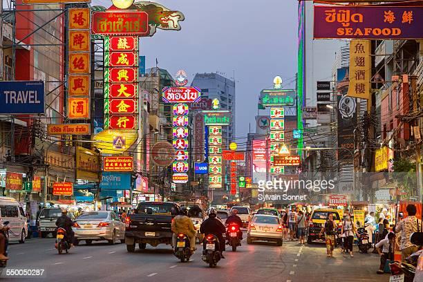 Bangkok, Chinatown, Yaowarat road by night
