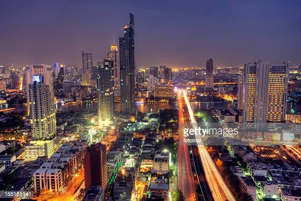 Vue sur la ville de Bangkok