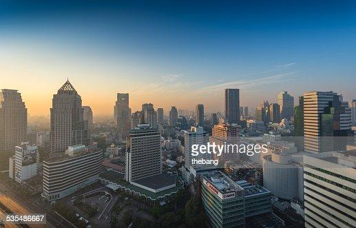 Bangkok city view at morning