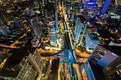 Bangkok city with night view