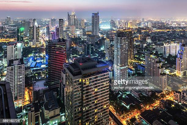 Bangkok cityscape at twilight